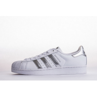 Adidas Superstar Shoes  White/Silver Metallic AQ3091