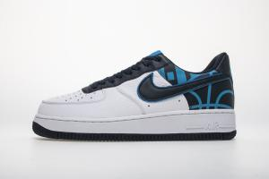 "Nike Air Force 1'07 Lv8 ""White Blue Black"" 823511-105"