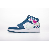 Air Jordan 1 MID(GS) 555112-300 WhiteBlue