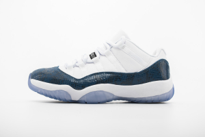 "Air Jordan 11 Low ""Navy Blue Snakeskin""CD6846-102"