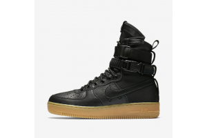 """Nike Special Forces Air Force 1  Boots """"Black/Gum Light Brown"""" 859202-009"""