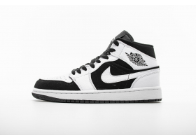 "Air Jordan 1 Mid ""Black White"" 554724-113"