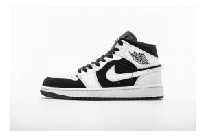 "Air Jordan 1 Mid ""Black White"" 554724-113"