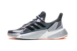 adidas X9000L4 Boost Wolf Grey Black Orange FY2348