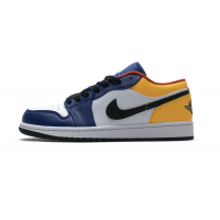 Air Jordan 1 Low Blue Yellow Orange 553558-123