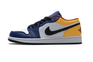 Air Jordan 1 Low Blue Yellow Orange 553558-123