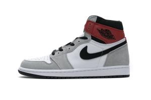 Air Jordan 1 High Smoke Grey Red 555088-126
