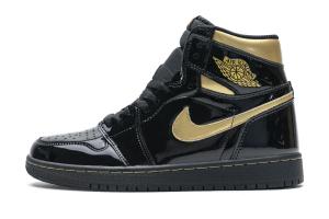 Air Jordan 1 High OG Patent Black Metallic Gold 555088-032